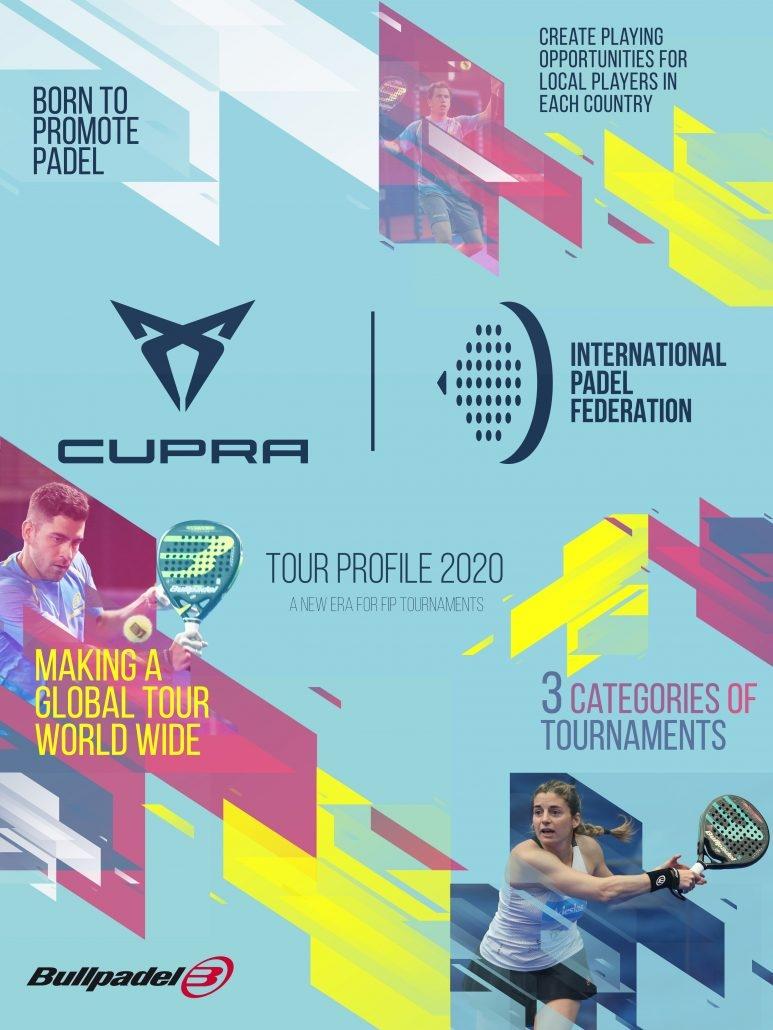 El cartel oficial del calendario CUPRA FIP Tour 2020.